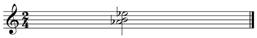 A flat minor spelled with a B instead of a C flat