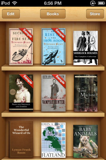 iBooks is one of the prettiest e-readers I've seen.