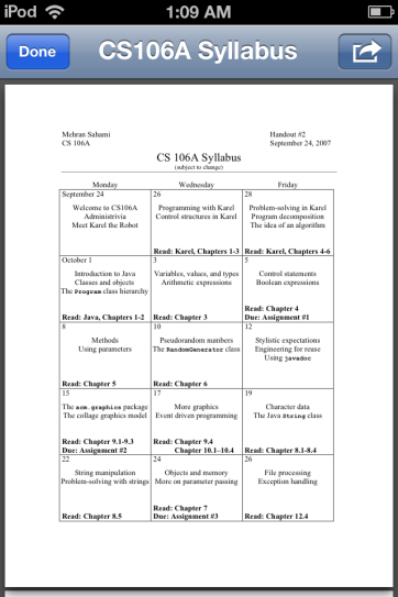 A syllabus delivered as a PDF.