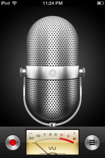 The Voice Memo app.
