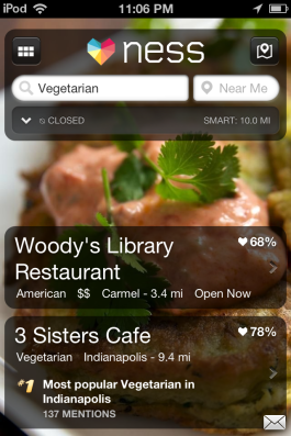Browse restaurants by food category, and see reviews.
