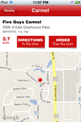 Order Five Guys online. Could this be the perfect app?
