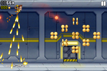Jetpack Joyride is pure arcade fun.