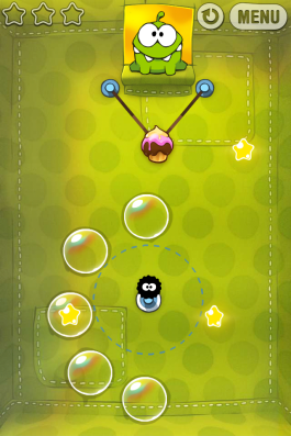 Cut the Rope exemplifies the idea of easy to learn, difficult to master.