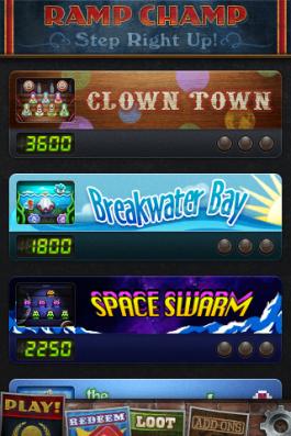 Choose from various themed skeet ball lanes.
