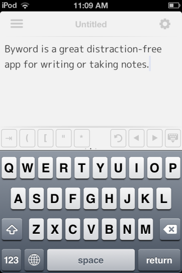 Byword is great for distraction-free writing.