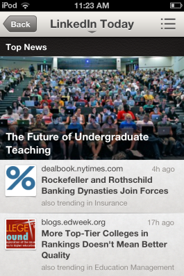 LinkedIn's featured articles.