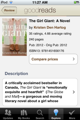 Discover new books with Goodreads.