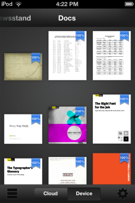 Kindle can also store PDF documents.