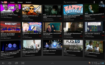 The YouTube app will make recommendations based on what it thinks you will like.