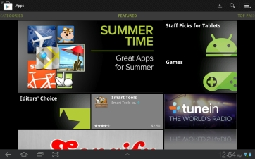 The Google Play app store.