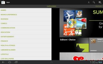 Categories in Google Play.
