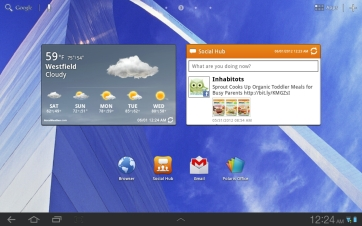 More widgets and apps.