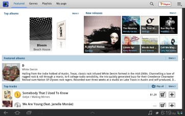 Like Ubuntu, Music Hub uses 7digital as its music store.