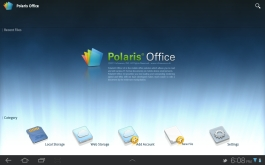 The included office suite, Polaris Office.