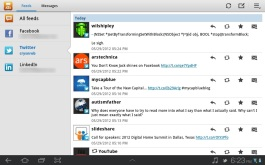 Viewing Twitter through Social Hub.