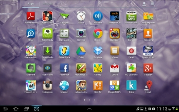 The default application launcher.