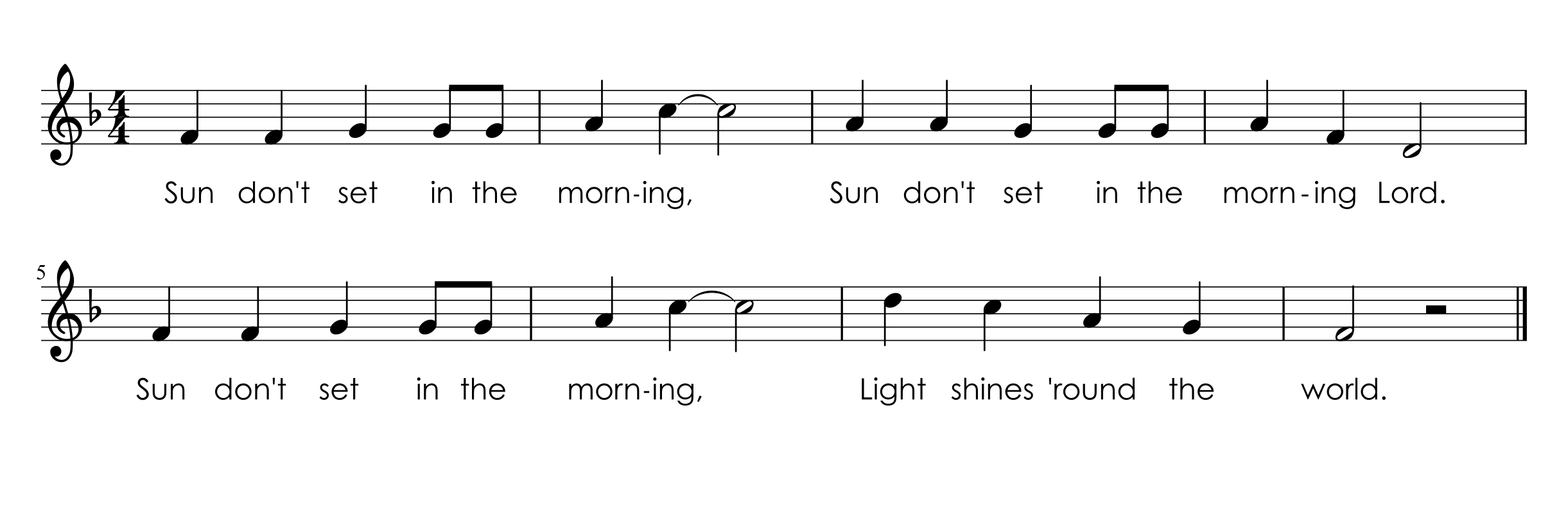 It Introduces Notes Below Do And We Create Motions For The Song That Represent What Makes Them Think About Mornings Its Also A Pretty Simple Song To