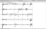 An open orchestral score.