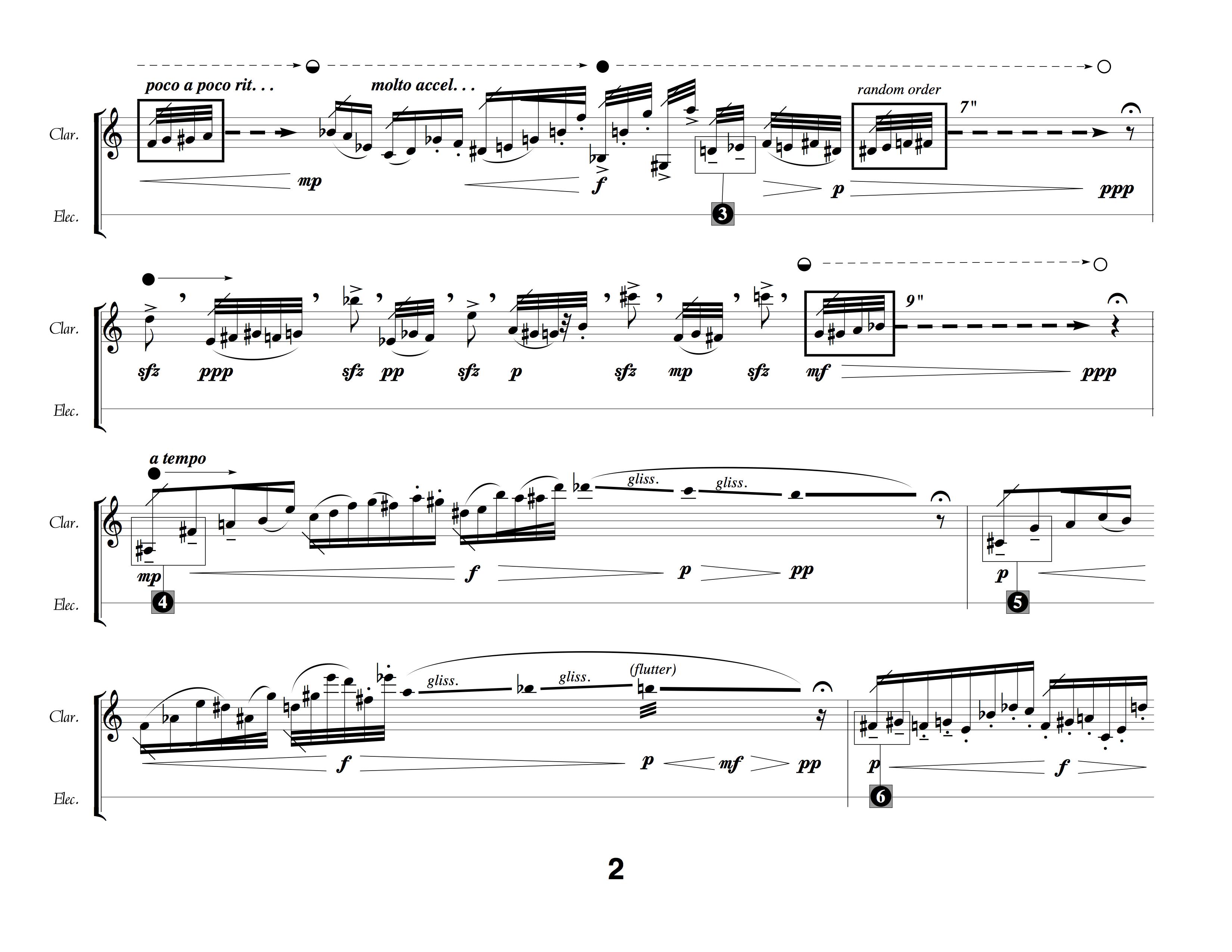 Output of avant garde notation