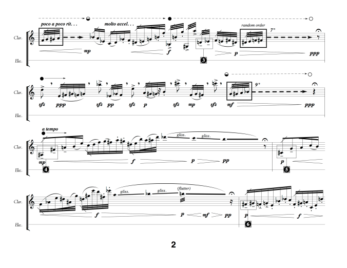 Output of avant garde notation