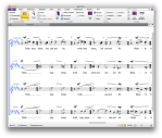 screenshot of Sibelius 7 First