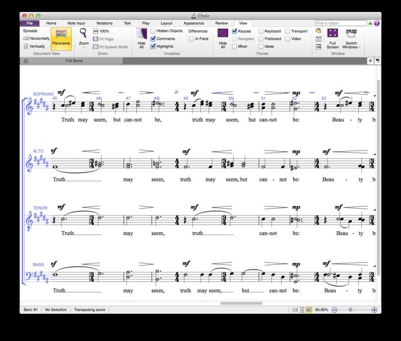 screenshot of Sibelius 7 First