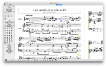 A piano score open in MuseScore