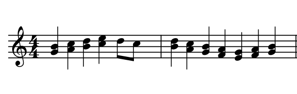 Mus 2 does not constrain how many notes go in a measure.
