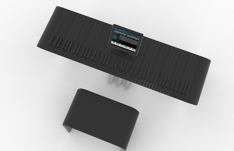 top view of stylized keyboard