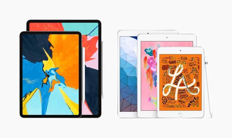 image showing iPad Pro, iPad mini, iPad, and iPad Air together